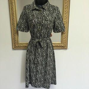 Ann Taylor career dress geo print  4P